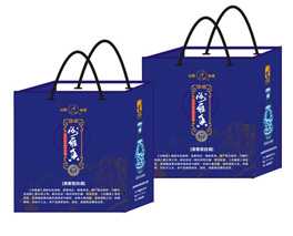青花瓷玉壶春手提袋