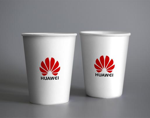 华为一次性纸杯定制